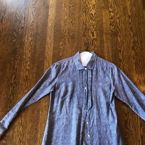 """Jcrew """"the perfect shirt"""" size 6"""